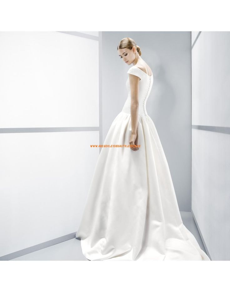 ... rund Ausschnitt A-linie Hochzeitskleider aus Satin- Jesús Peiró