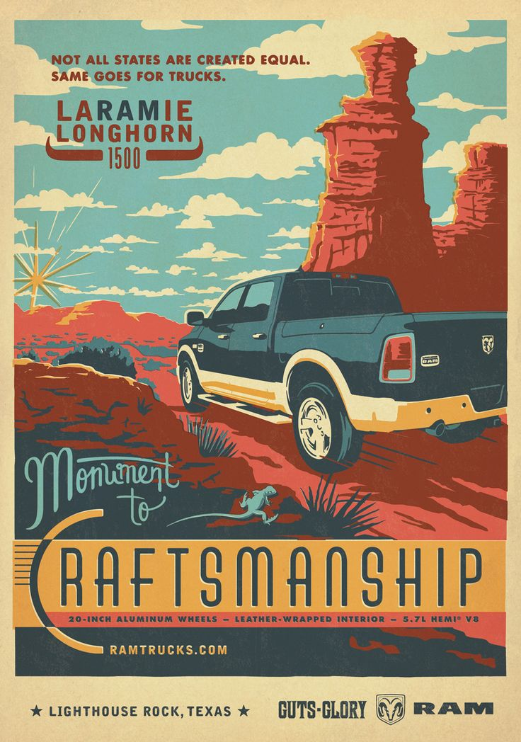Ram Trucks: Craftsmanship: Creative Noticed, Advertising Agency, Art Director, Vintage Poster, Illustration, Graphics Design, Retro Poster, Rams Trucks, Prints Ads