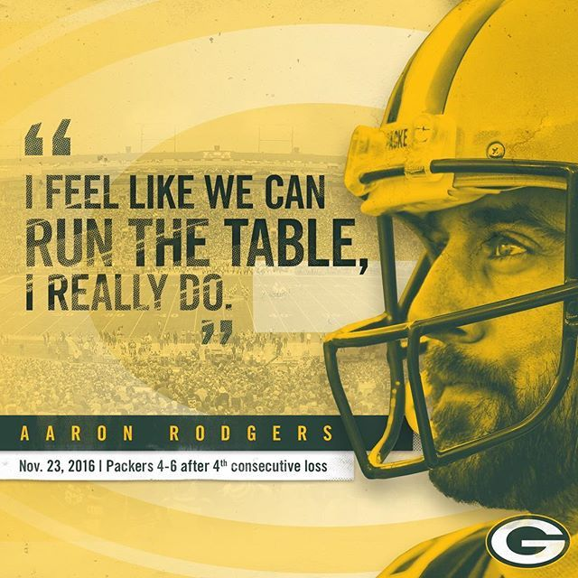 From 4-6 to 10-6. And they Did!! #GoPackGo 1/1/2017°  Let's keep it rolling into the playoffs!  #GoPackGo