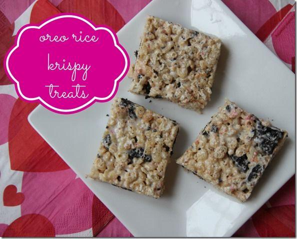 Oreo Rice Krispy Treats