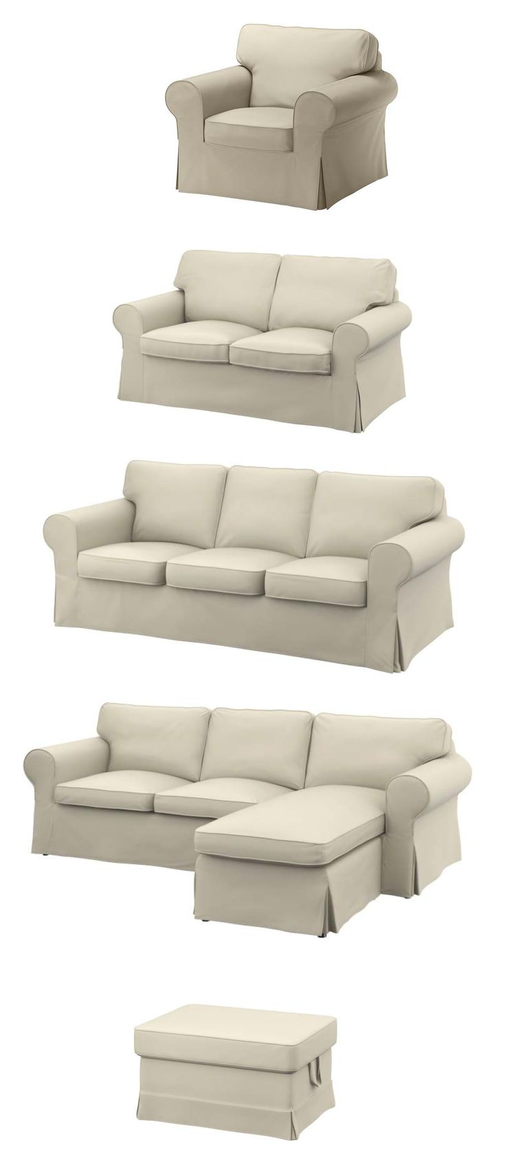 Strong seams changeable covers and seat backs you can flip to even out wear.  sc 1 st  Pinterest : ikea ektorp sectional sofa - Sectionals, Sofas & Couches