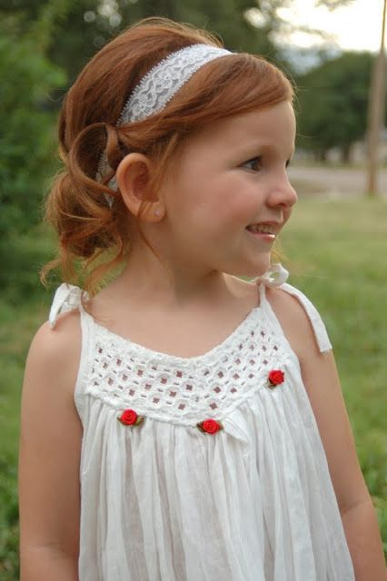 Hair for the Mini Diva: Summer Wedding curly toddler girl hair in headband wrap