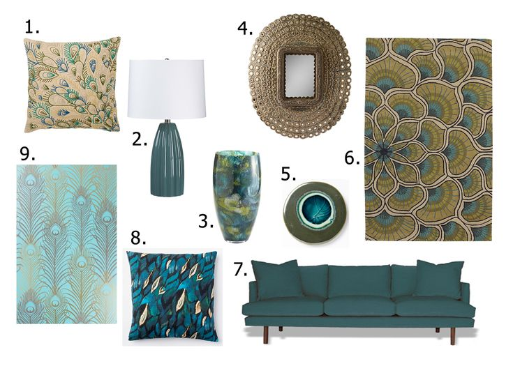 Peacock Inspired Home Decor