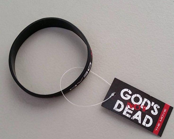 God 's Not Dead Silicone Bracelets - Black