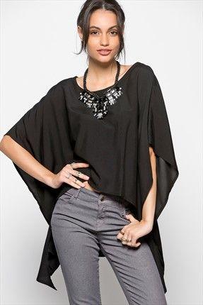 Outlet : Kaçırılmayacak Fırsatlar - Siyah Bluz MGWSS151260 %50 indirimle 19,99TL ile Trendyol da