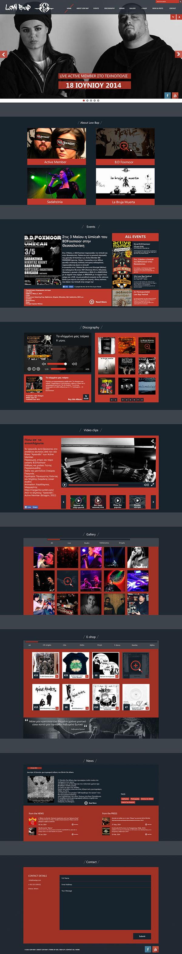 "Personal project ""Redesign Low Bap website"" on Behance"