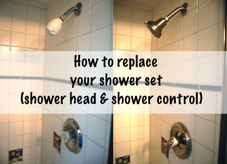 Installing A New Shower Head And Control Stains The O