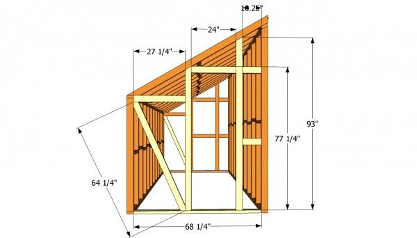 Lean to greenhouse plans free outdoor plans diy shed for Wood pole barn plans free
