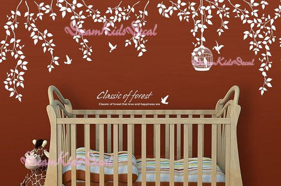 Nursery wall decal baby girl and name wall by DreamKidsDecal, $59.00