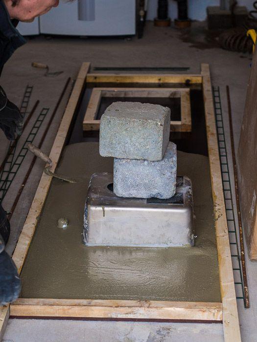 Gjuta bänkskiva i betong – lite tips «