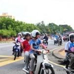 Antara peserta- peserta Kembara Anak Merdeka dan Kempen Keselamatan Jalan Raya 2012