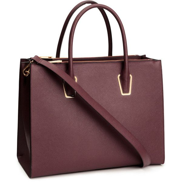 H&M Handbag ($43) ❤ liked on Polyvore featuring bags, handbags, shoulder bags, bolsas, burgundy, purse shoulder bag, burgundy purse, brown studded handbag, studded purse and studded shoulder bag