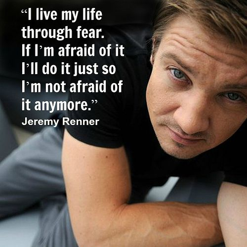 Jeremy Renner -  Movie Actor Quote -#jeremyrenner