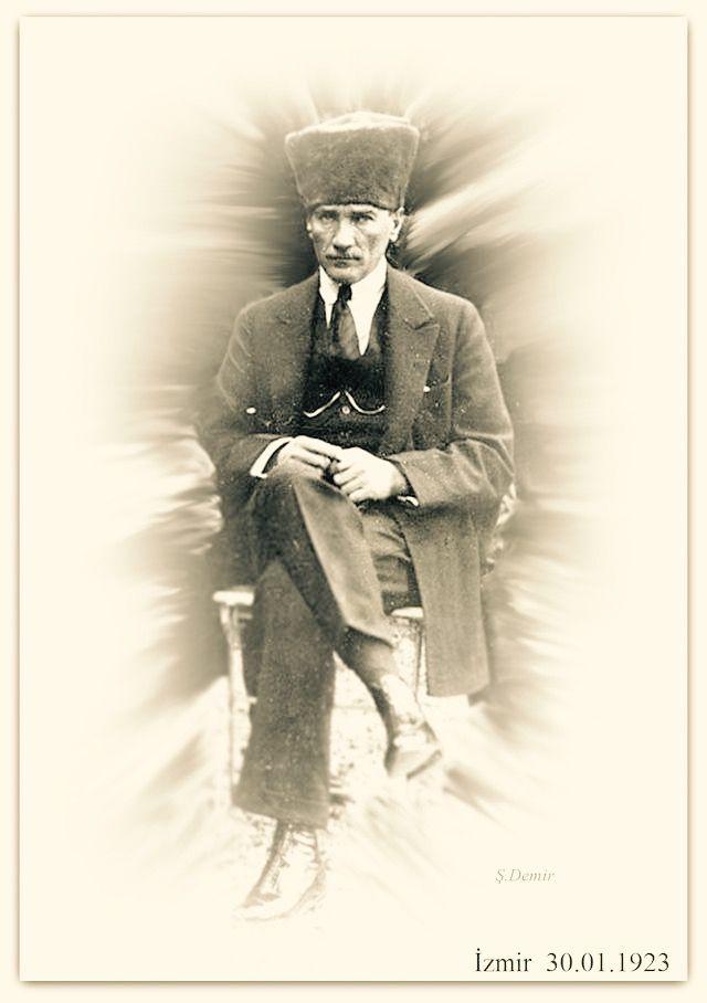 Atatürk İzmir'de. 30.01.1923