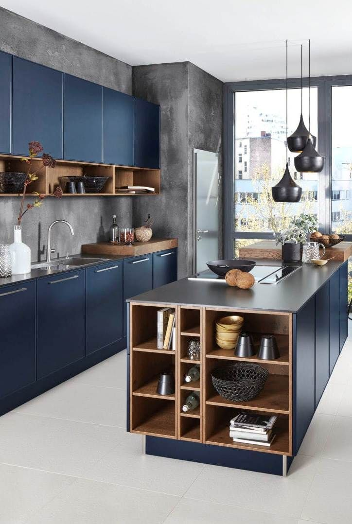 Blue Modern Kitchen Cabinets With Pendant Lighting Blue Cabinets Classpintag Explore Hrefexplo Kitchen Room Design Modern Kitchen Kitchen Furniture Design