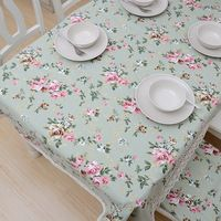 Home textile table placemats Small tablo pure fresh romantic pastoral cotton fabric party dining banquet table covers tablecloth