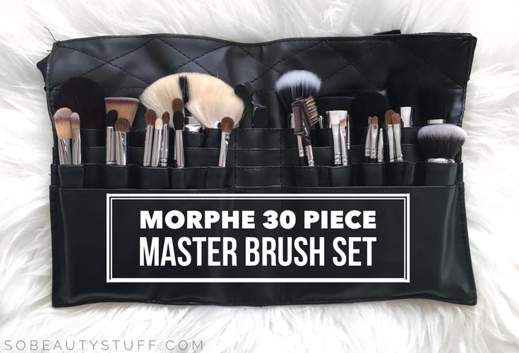 """Morphe Set 501 - 30 Piece Master Set   I asked on Instagram if you wanted a full review on this brush set and everyone said yes so here it is! I'll start by sharing the description and brush list from the Morphe website: """"The 30 piece Master Set is made with our professional grade brushes. Each brush features a polished chrome ferrule and matte black birch wood handle.""""  M143 - Deluxe Soft Fan  M105 - Tapered Blush  S94 - Mini Buffer/Contour  M462 - Duo Powder Dome  M104 - Angle Blush  M414…"""