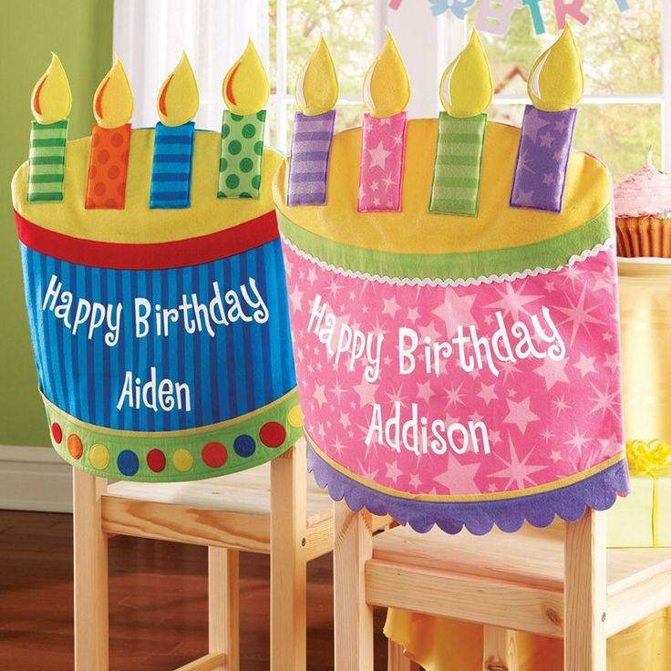 Birthday chair cover