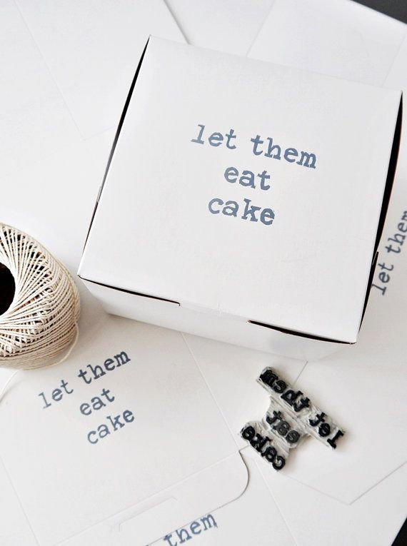 Let Them Eat Cake // Pastry Gift Favor Box // Discount by atiliay, $2.00