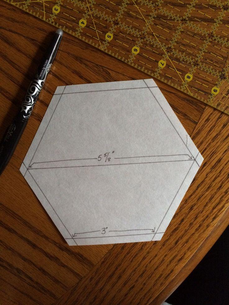 A template for my Crazy Hexagon blocks. Rhonda Dort
