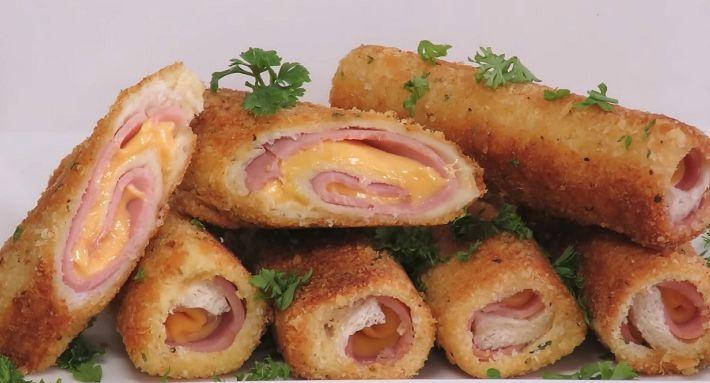 Вкусный и сытный завтрак на скорую руку: трубочки из хлеба. Вкуснятина   NashaKuhnia.Ru