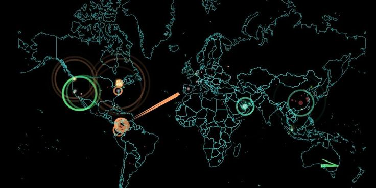 This map shows cyber attacks in real-time: This map shows cyber attacks in real-time:…