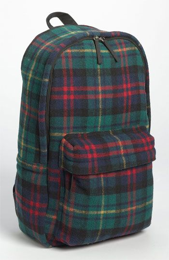 Topman Scottish Plaid Flannel Backpack