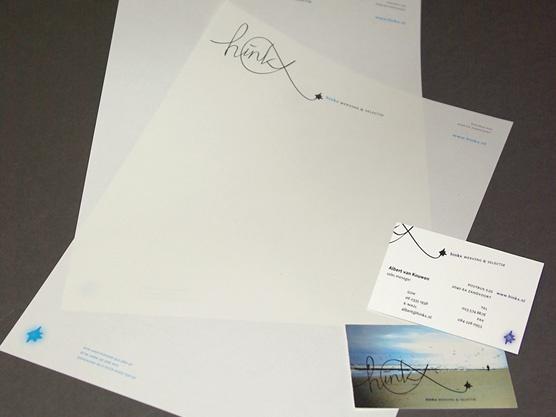 Huisstijl met een persoonlijke uitstraling voor werving- en selectiebureau Hinkx uit Zandvoort