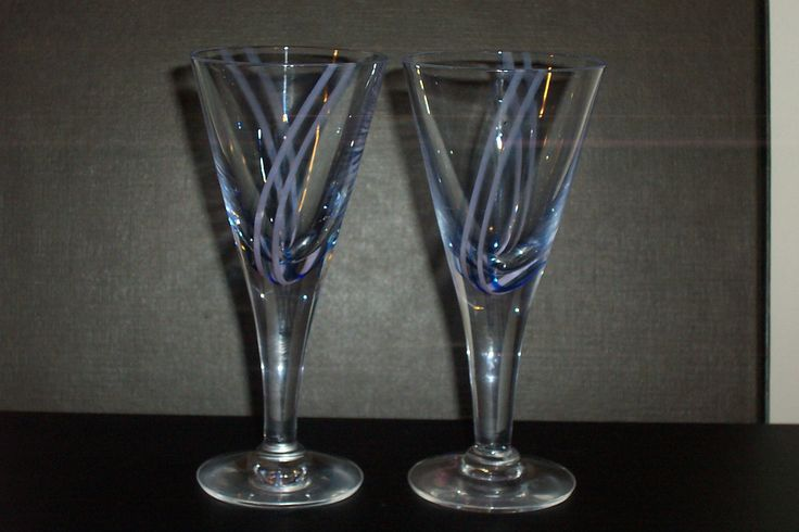 pair CAITHNESS   ''Charisma'' crystal stemmed wine glasses..140mm