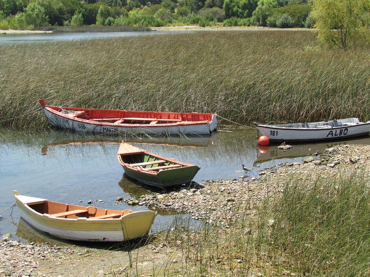 Botes en el Lago Ranco,Futrono
