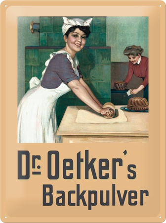 dr oetker b ckerin emaille schild dr august oetker wurde 2013 als essen ist fertig. Black Bedroom Furniture Sets. Home Design Ideas