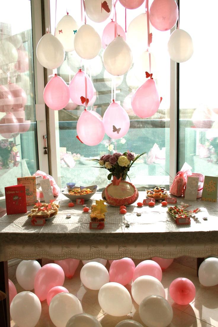 25 beste idee n over babyborrel ballonnen op pinterest tule ballonnen en tafelversiering voor - Deco slaapkamer jongen jaar ...