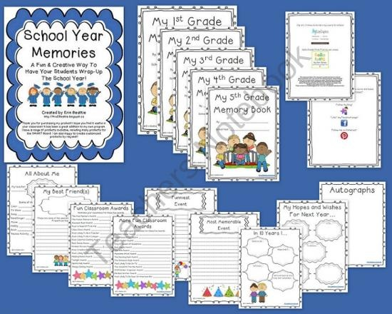 End-Of-Year School Memory Book Keepsake for K-5 Students (24 pgs) from Mrs. Beatties Classroom on TeachersNotebook.com (24 pages)  - End-Of-Year School Memory Book Keepsake for Students
