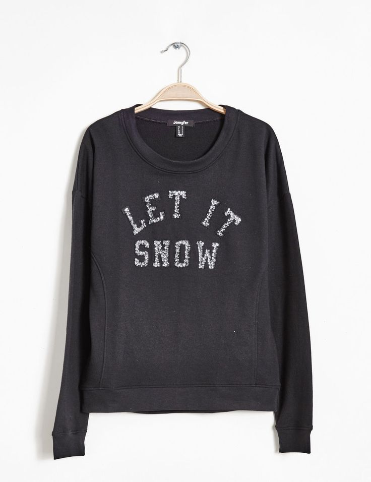sweat avec motif à sequins let it snow noir - http://www.jennyfer.com/fr-fr/collection/joggness/sweat-avec-motif-a-sequins-let-it-snow-noir-10009185060.html