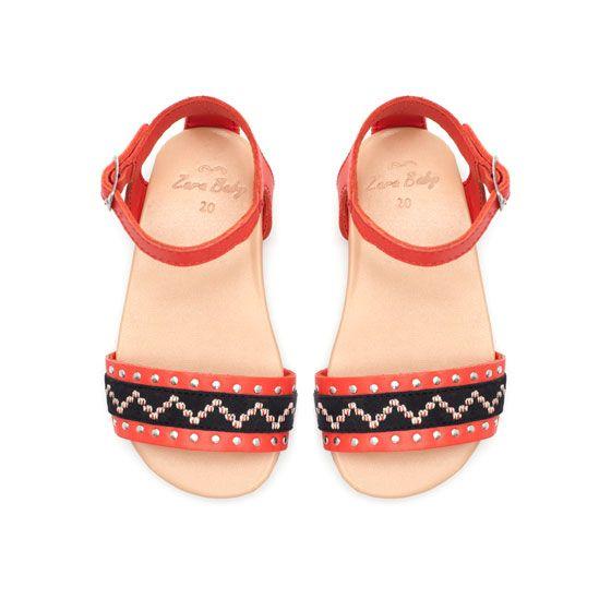 Boho leather sandal - Shoes - Baby girl - Kids - ZARA United States