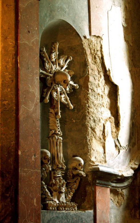 The Sedlec Ossuary is a small chapel located in Sedlec, in the suburbs of Kutna Hora, in the Czech Republic.