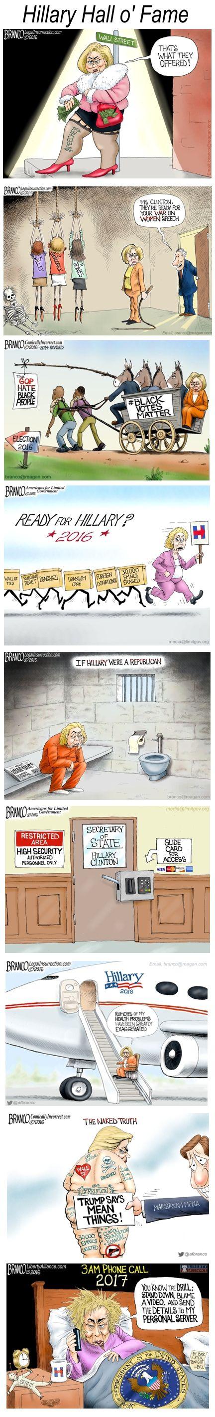 Cartoon: Hillary Clinton Hall O' Fame