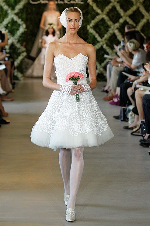 Oscar de la renta short wedding dress spring 2013 short for Oscar de la renta short wedding dress