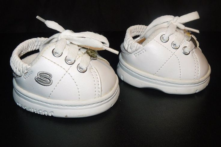 Build A Bear Workshop Lace Up White #Skechers Glitter Heart Sling Back Elastic #BuildaBear