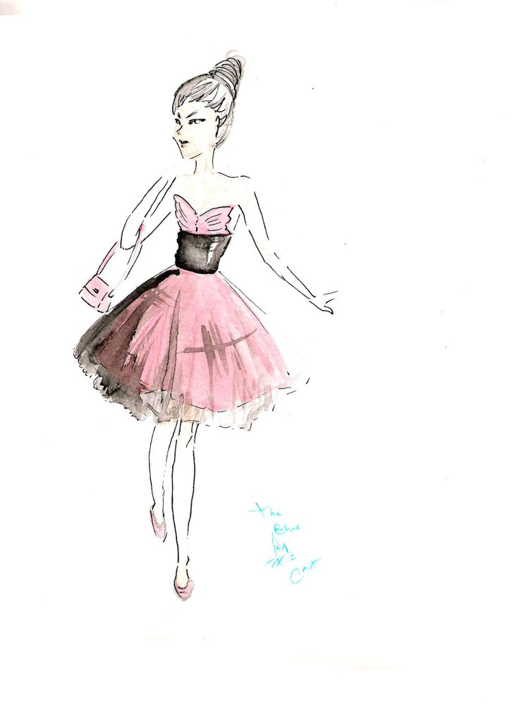 Cute pink dress, ballerina-inspired