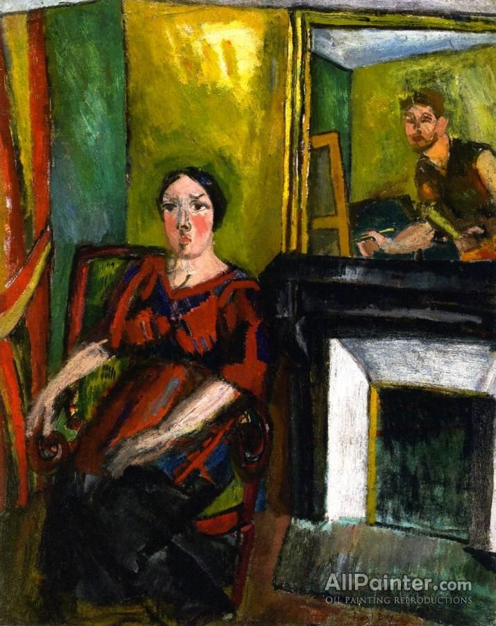 Raoul Dufy,The Painter And His Model oil painting reproductions for sale