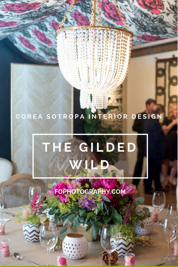 Sumptuous pinks, chevrons and gold were just a few elements of the decadent design by Corea Sotropa Interior Design for Dinner By Design Calgary.
