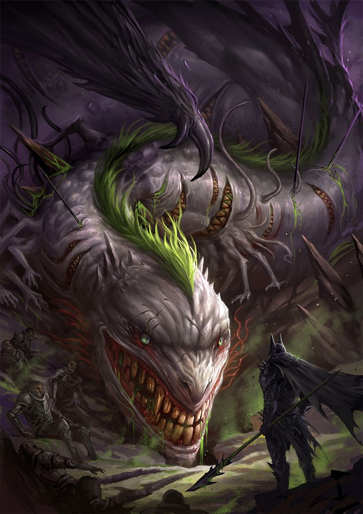 Medieval Batman vs Joker Dragon by sandara