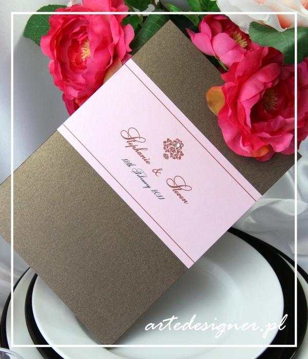 Karta menu Victoria / Victoria wedding menu card. Product By / www.artedesigner.pl