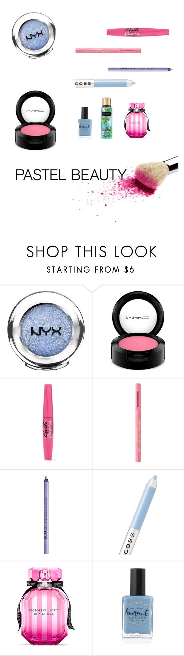 """pastel beauty"" by natalyholly on Polyvore featuring beauty, NYX, MAC Cosmetics, Too Faced Cosmetics, Marc Jacobs, Victoria's Secret and Lauren B. Beauty"
