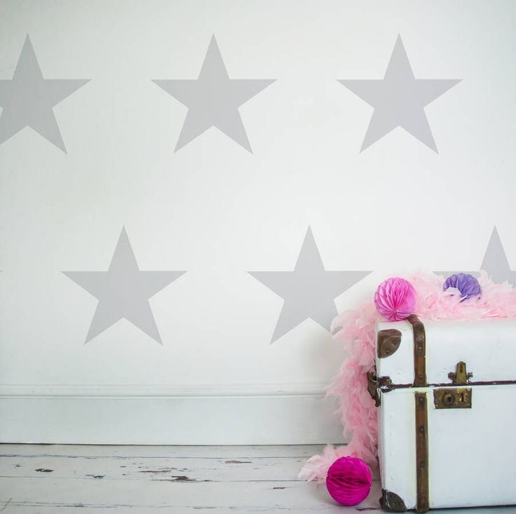 Make a feature wall with these large decorative star wall stickersAvailable in a range of colours to compliment any room in your house. Please see the colour chart image available as a thumbnail image for full colour options.You will recieve 16 stars, there is the option to purchase additional stars. Nutmeg's beautifully designed wall stickers and wall quotes are a stylish modern way to decorate a room or carry out a room makeover, without the mess. They're easy to apply and remove, just…
