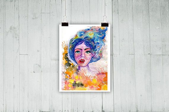 Art Print of an Original Watercolor painting. by ColorfulSimone