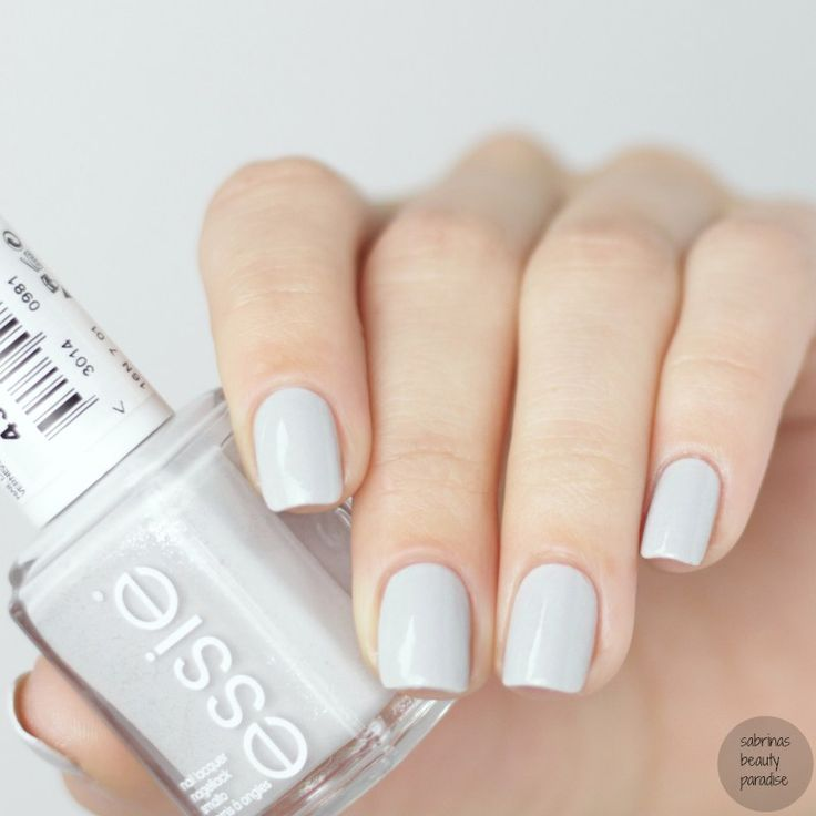 Essie go with the flowy from getting groovy winter for Light gray color swatch