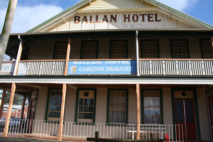 Hotel in Ballan... A small country town in Victoria Australia...