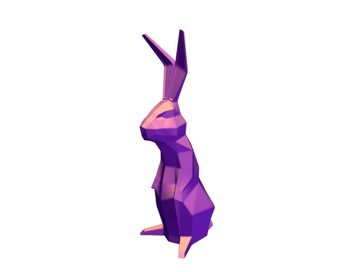 Low Poly Easter Bunny - a 3D model by VECTARY | VECTARY
